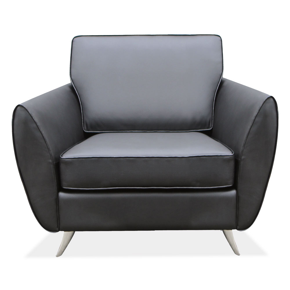 Office Source Sterling Club Chair 62601BLK