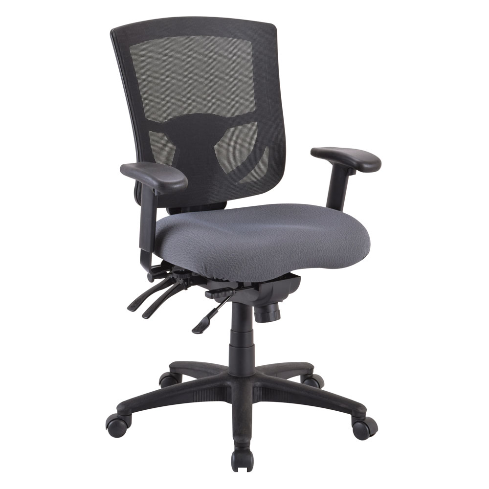 Office Source CoolMesh Pro Series Mid Back Multi-Function Mesh Chair #8054ASNS