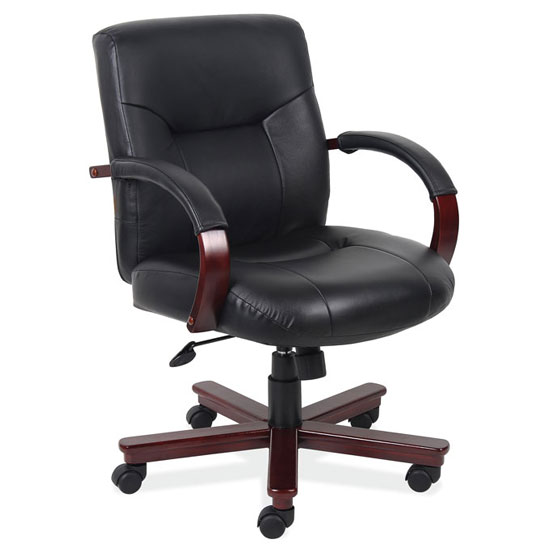 Office Source Executive Mid Back Chair #1245MBLK