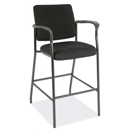 Office Source Fabric Back Stool #2994BLK