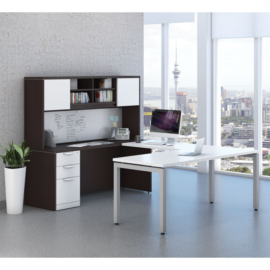 Office Source Modern Desk Typical U-Shaped Layout OS110
