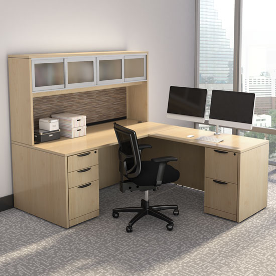 Office Source Modern Desk Typical Layout OS127