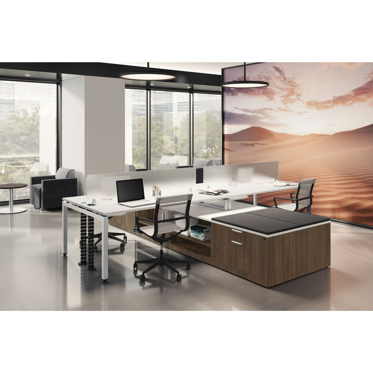 Office Source Variant 4 Person Workstation OS157