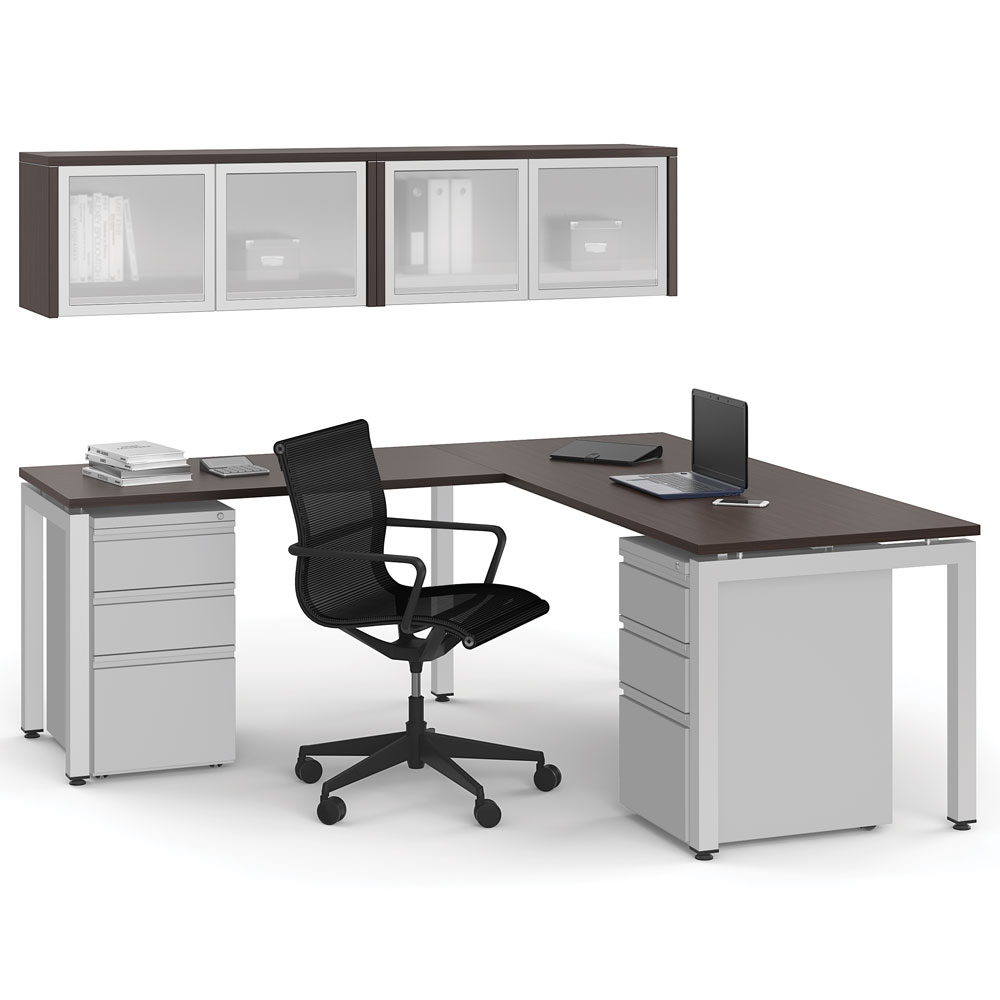 Office Source Modern Desk Typical Layout OS65