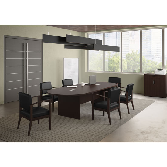 Office Source 4' x 10' Racetrack Conference Table PL137