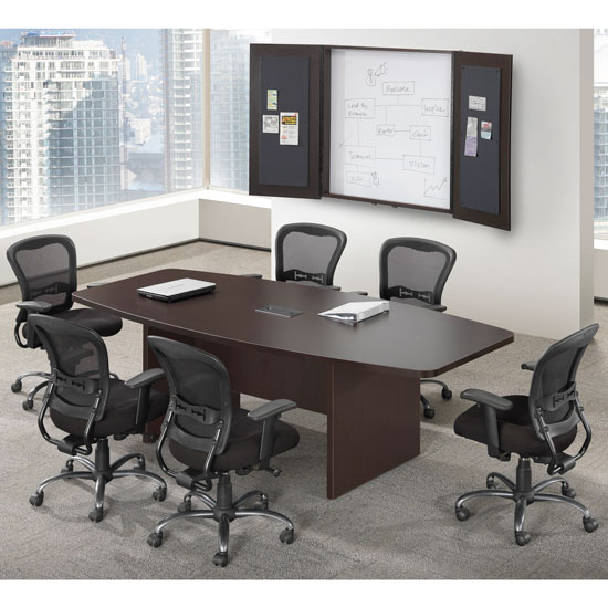 Office Source 6' Boat Shaped Conference Table PL235