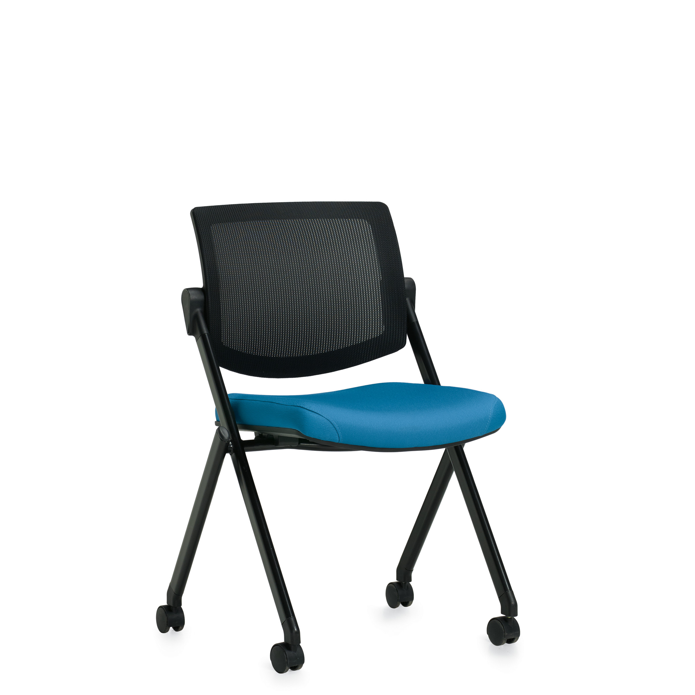 OTG Mesh Back Armless Flip Nesting Chair #OTG11341B