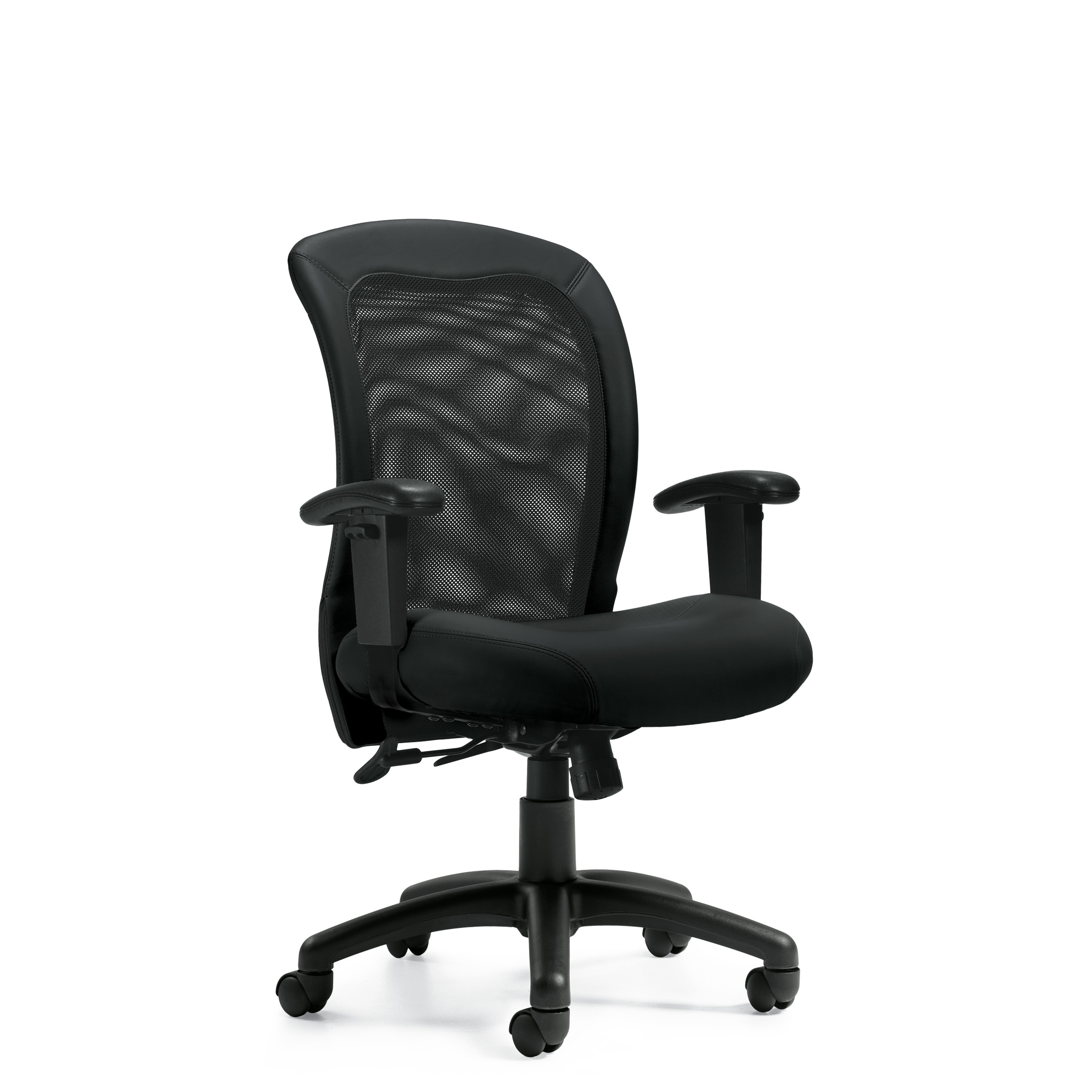 OTG Luxhide Adjustable Mesh Back Ergonomic Chair #OTG11692