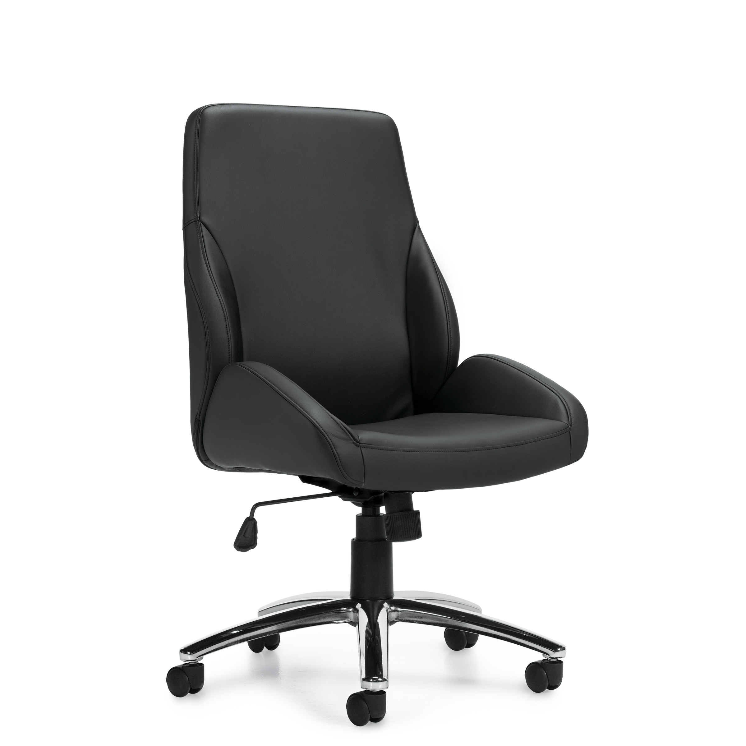 OTG Specialty Luxhide Armless Conference Chair #OTG11786B