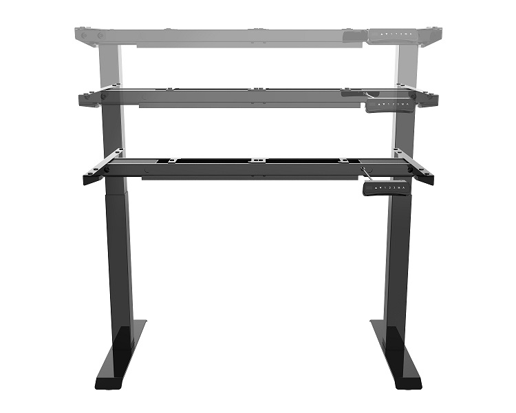 Open Plan Powered Adjustable Height Table Base (Base Only) #E-Table-2S-T-LEG.XX