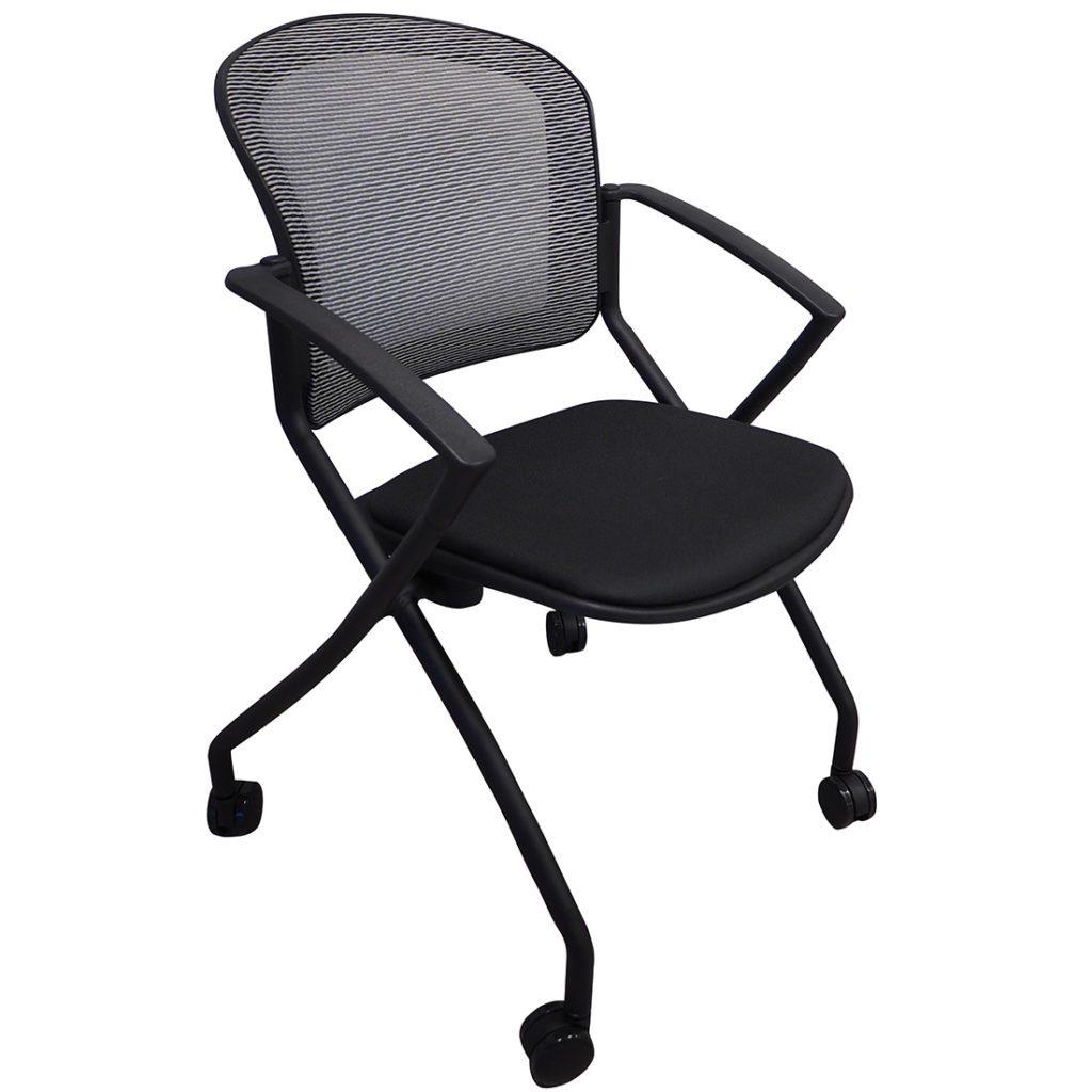 Open Plan Value Series Mesh Nesting Steal Chair OPS-3159