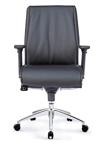Open Plan Tranquility Mid Back Executive Leather Chair #9838B.L