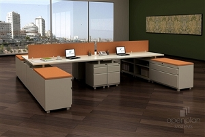 Open Plan Signature Series 6' x 6' 4 Pack - Freestanding Stations TYPICAL 1