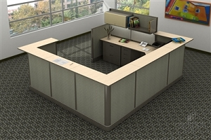 Open Plan Signature Series 9' x 11' Reception Station TYPICAL 2