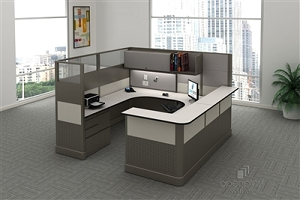 Open Plan Signature Series 8' x 8' Tile Reception Station TYPICAL 3