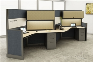 Open Plan 2 Pack 120 Degree Workstation TYPICAL 4