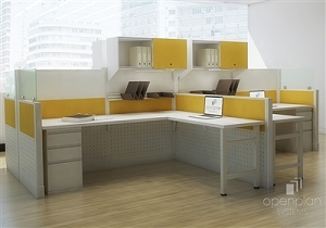 Open Plan Razor Station 6' x 7' Workstation TYPICAL 14