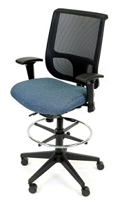 RFM Seating Tech 1400 Managers High Back Stool - #14333-37200