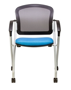 RFM Seating Link Mesh Back Nesting Chair W/Arms #150A