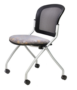RFM Seating Link Mesh Back Armless Nesting Chair #150NA
