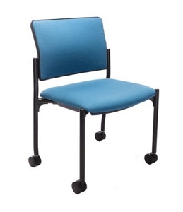 RFM Seating Evolve 1500 Armless Guest Chair W/Casters #9544NA