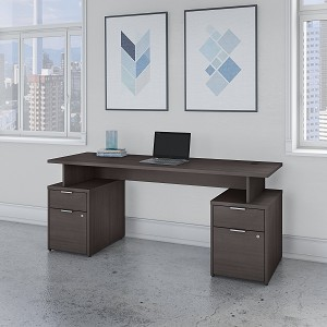 Bush Business Furniture Jamestown 72W Desk with 4 Drawers