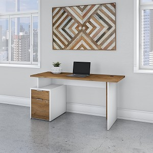 Bush Business Furniture Jamestown 60W Desk with 2 Drawers