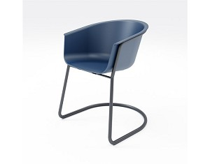 KFI Studios Roqa Sled Base Chair w/Polypropylene Seat and Back #SL2800