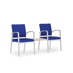 Lesro Newport Series 2 Chairs With Connecting Center Table #NP2411G5