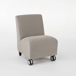 Lesro Siena Series Armless Guest Chair With Casters #SN1402C3